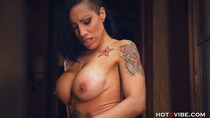 Busty Cougar Squirts from her Balcony