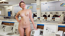 Big ass and adorable Cali Hayes gets fucked by laundromat owner