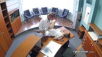 Horny doctor creampied hot nurse