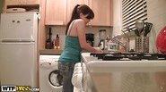 My girlfriend kitchen fuck
