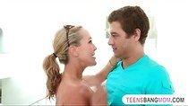 Teen and her stepmom Brandi Love fucked