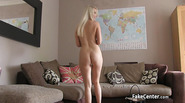 Massive facial on casting for blonde milf