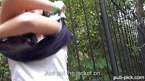 Czech girl Rosalinda flashes and ripped