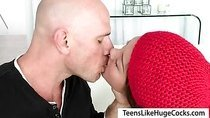 Lovely asian teen Alina Li facialized