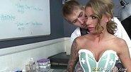 Naughty busty nurse Juelz Ventura nailed