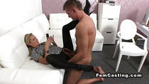 Dude fucks hairy agent in pantyhose