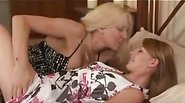 Two sexy MILFs playing with each other