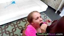 Teen Britney Young wants huge black cock