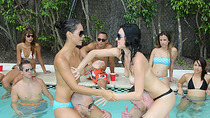 Pool party with sexy hot college hotties