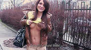 Beautiful Alexis gets paid to show her tits in public and she gets fucked