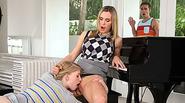 Piano teacher Tanya punishes teen Allie