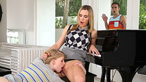 Piano teacher Tanya punishes teen Allie