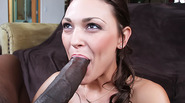 Brunette Giving Interracial Head to her Guy