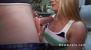 Thick booty blonde gets anal fucked