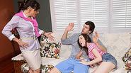 MILF Alexandera loves threesome w teens