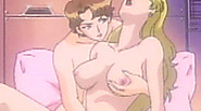 Lesbian hentai fingering pussy and squeezing tits