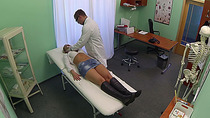Hot Novakova gets cured by doctors dick