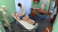 Blonde patient gets rammed by her doctor