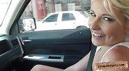 Cute teen Dani Desire banged in a car