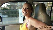 Beautiful teen slut Sam Summers doggied in the backseat