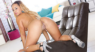 Slut Treanna gets ebony ass fucked in doggystyle position