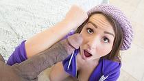 Teen Lola Foxx handling big black cock