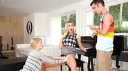 Piano teacher Tanya pleases her student