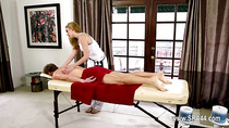 Amazing glamours on special massage bed