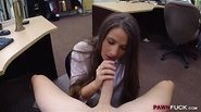 Sexy amateur babe banged in the pawnshop
