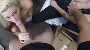 Lesbian girlfriend gets fucked by a cock for the first time in her life!