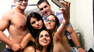 Under graduates coupled up and group sex