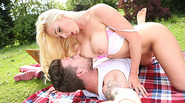 Huge boobs Victoria Summers outdoor sex