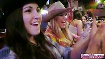 Horny teens gets fucked in the room by the guys they meet on the cowboy party