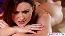 Karlie Montana gives Megan Rain a naughty massage