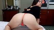Busty Asian Audrina Grace fucked on tape