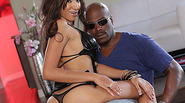 Hot and sexy Sadie Santana gets banged by a big black dick receives facial