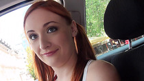 Slutty redhead cheerleader Eva Berger gets her pussy rammed hard by the stranger