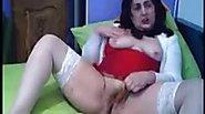 Old grenny nad her big tits on webcam skype