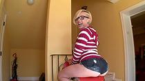 Smoking Miley May gets banged hard from behind by dudes prick
