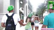 Teen girls group sex in St Patricks Day