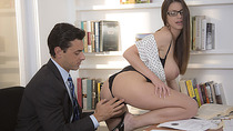 Horny Secretary Brooklyns doggystyle fuck in the office
