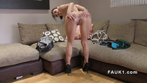 Slim brunette model gets anal banged in casting