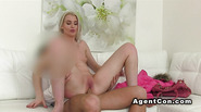 Slim model ride dick of fake agent
