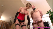 Wildcat loves torturing her male slave